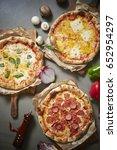 pizza  | Shutterstock . vector #652954297