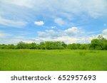 summer landscape. blue sky and... | Shutterstock . vector #652957693