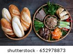 famous vietnamese food is banh... | Shutterstock . vector #652978873