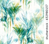tropical trees seamless pattern.... | Shutterstock . vector #652980157