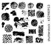large set of hand drawn grunge... | Shutterstock .eps vector #652980913