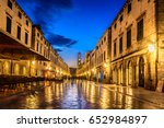night view at old historic... | Shutterstock . vector #652984897
