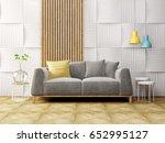modern scandinavian  interior.... | Shutterstock . vector #652995127