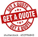 get a quote round red grunge... | Shutterstock .eps vector #652996843