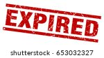 square grunge red expired stamp | Shutterstock .eps vector #653032327