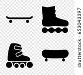 skating icons set. set of 4... | Shutterstock .eps vector #653043397