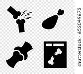 bone icons set. set of 4 bone... | Shutterstock .eps vector #653049673
