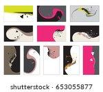 business card   vector... | Shutterstock .eps vector #653055877