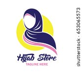 hijab logo with text space for...