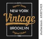 new york vintage graphic for t... | Shutterstock .eps vector #653071423