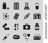 drug icons set. set of 16 drug... | Shutterstock .eps vector #653072407