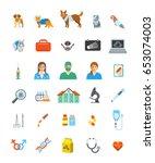 vet clinic services vector... | Shutterstock .eps vector #653074003