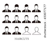 business men hairstyle icons... | Shutterstock .eps vector #653077177