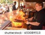 lugano  switzerland   april 29  ... | Shutterstock . vector #653089513