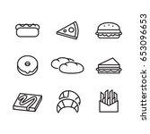 icon food  vector | Shutterstock .eps vector #653096653