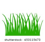 illustration of green grass ... | Shutterstock . vector #653115673