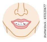 bad dentition face close up | Shutterstock .eps vector #653120677