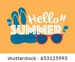 summer sale background layout... | Shutterstock .eps vector #653125993