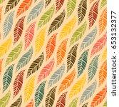 seamless pattern of autumn... | Shutterstock .eps vector #653132377