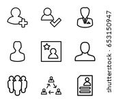 profile icons set. set of 9... | Shutterstock .eps vector #653150947