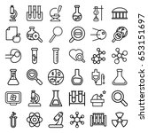 research icons set. set of 36... | Shutterstock .eps vector #653151697