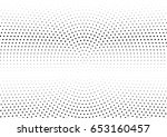 abstract halftone dotted... | Shutterstock .eps vector #653160457