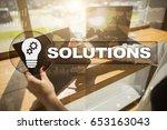 business solutions concept. | Shutterstock . vector #653163043