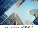 toned picture of canary wharf ... | Shutterstock . vector #65316913