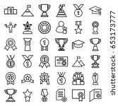 achievement icons set. set of... | Shutterstock .eps vector #653173777