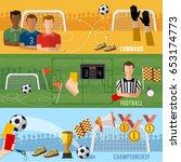 soccer banner  football sport... | Shutterstock .eps vector #653174773