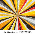 radial speed lines with focus... | Shutterstock .eps vector #653179543