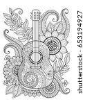 coloring page for adult. antis... | Shutterstock . vector #653194927
