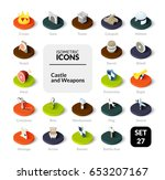 color icons set in flat... | Shutterstock .eps vector #653207167