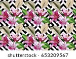 floral hand drawn composition... | Shutterstock .eps vector #653209567