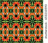 the geometric texture. boho... | Shutterstock .eps vector #653210593