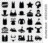top icons set. set of 25 top... | Shutterstock .eps vector #653214223