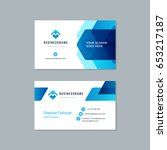 business card design trendy... | Shutterstock .eps vector #653217187
