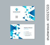 business card design trendy... | Shutterstock .eps vector #653217223
