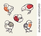 little chicken. poultry.... | Shutterstock .eps vector #653221453