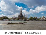 arun temple with passenger boat ... | Shutterstock . vector #653224387