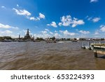 arun temple with passenger boat ... | Shutterstock . vector #653224393