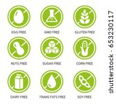 set of food labels   allergens  ...