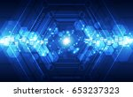 abstract technology concept.... | Shutterstock .eps vector #653237323