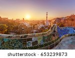 view of barcelone from the park ...   Shutterstock . vector #653239873