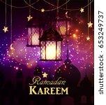 ramadan kareem  greeting... | Shutterstock .eps vector #653249737