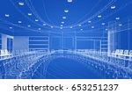 sketch design of interior... | Shutterstock . vector #653251237