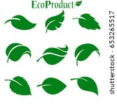 green leaves collection. vector ... | Shutterstock .eps vector #653265517