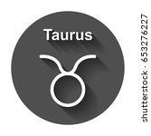 taurus zodiac sign. flat... | Shutterstock .eps vector #653276227