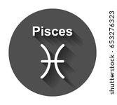 pisces zodiac sign. flat... | Shutterstock .eps vector #653276323