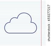 cloud sign illustration. vector....   Shutterstock .eps vector #653277217
